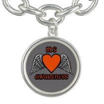 Heart/Wings...MS Charm Bracelet