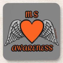 Heart/Wings...MS Drink Coaster