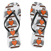 Heart/Wings...MS Flip Flops