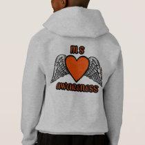 Heart/Wings...MS Hoodie