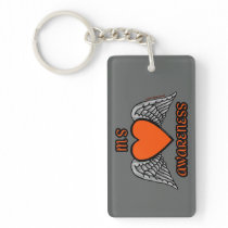 Heart/Wings...MS Keychain