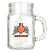 Heart/Wings...MS Mason Jar