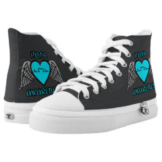 Heart/Wings...P.O.T.S. High-Top Sneakers
