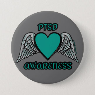 Heart/Wings...PTSD Button