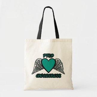Heart/Wings...PTSD Tote Bag
