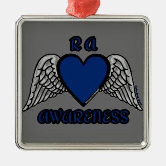 Heart/Wings...RA Metal Ornament