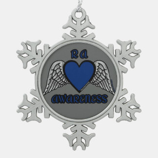 Heart/Wings...RA Snowflake Pewter Christmas Ornament