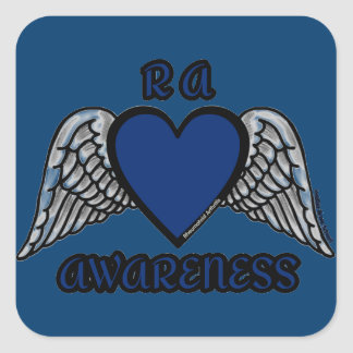 Heart/Wings...RA Square Sticker