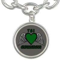Heart/Wings...TBI Charm Bracelet