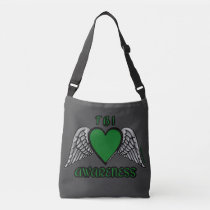 Heart/Wings...TBI Crossbody Bag