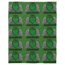 Heart/Wings...TBI Fleece Blanket
