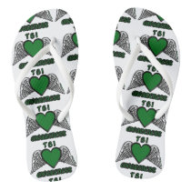 Heart/Wings...TBI Flip Flops