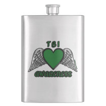 Heart/Wings...TBI Hip Flask