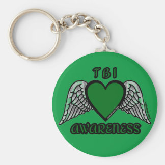 Heart/Wings...TBI Keychain