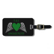Heart/Wings...TBI Luggage Tag