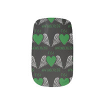 Heart/Wings...TBI Minx Nail Wraps