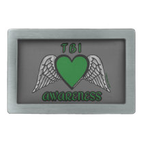 Heart/Wings...TBI Rectangular Belt Buckle