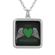 Heart/Wings...TBI Silver Plated Necklace