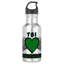 Heart/Wings...TBI Stainless Steel Water Bottle