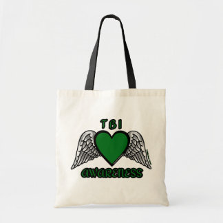 Heart/Wings...TBI Tote Bag