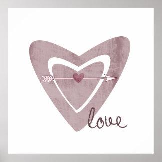 Heart with Arrow Print