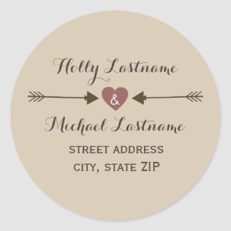 Heart With Arrows Address Sticker