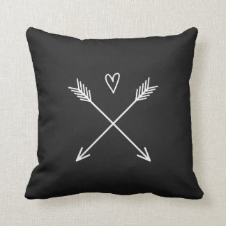 Heart with Arrows Throw Pillow