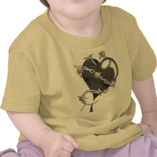 heart with barbwire t shirt