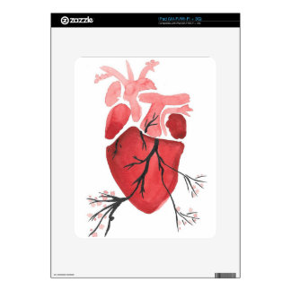 Heart With Branches Skins For iPad