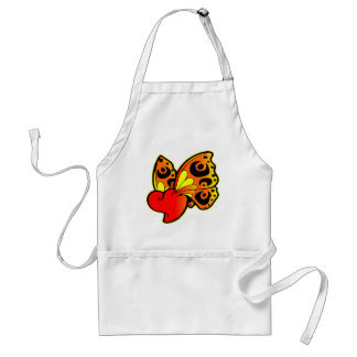 Heart with Butterfly Wings Adult Apron