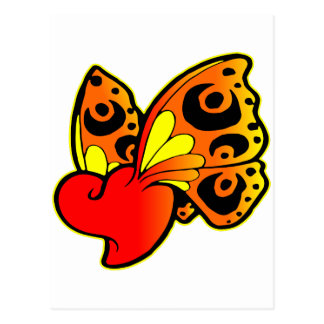 Heart with Butterfly Wings Postcard