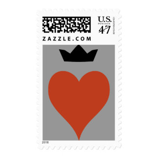 Heart with Crown Postage
