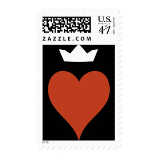 Heart with Crown Postage Stamp