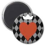 Heart with Crown Refrigerator Magnet