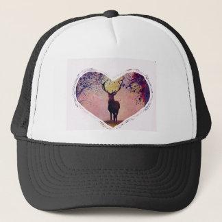 Heart with deer trucker hat