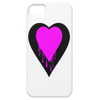 heart with dripping paint iPhone SE/5/5s case