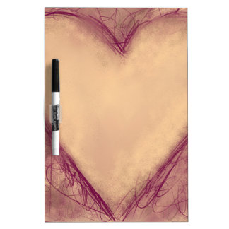 Heart with expressive lines dry erase board