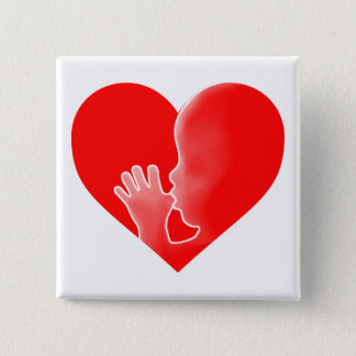 """""""HEART WITH FETUS"""" BUTTON"""