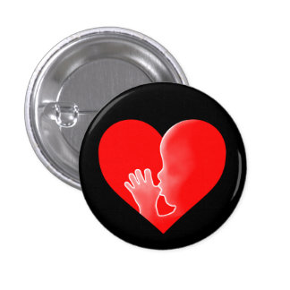 """""""HEART WITH FETUS"""" PINBACK BUTTON"""