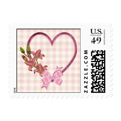Heart with Floral Arrangement Stamps