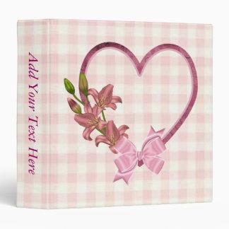 Heart with Floral Arrangement Vinyl Binders
