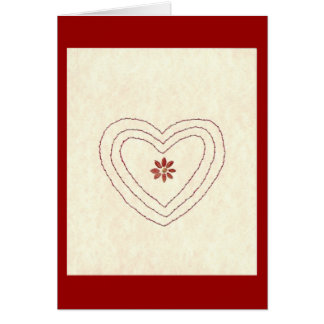 HEART WITH FLOWER GREETING CARDS