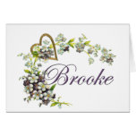 heart with flowers Brooke Card
