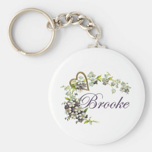 heart with flowers Brooke Key Chain