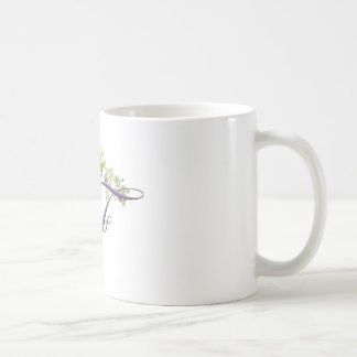 heart with flowers letter F Coffee Mug