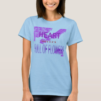 heart with full of flowers T-Shirt