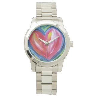 Heart with Hope Colorful Art Custom Watch Design