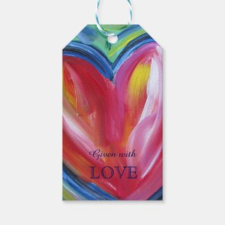 Heart with Hope Love Custom Card Gift Tags