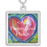 Heart with Hope Personalized Pendant Necklace