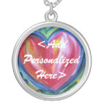 Heart with Hope Personalized Silver Necklace